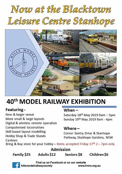 40th Hills Model Railway Exhibition - Sydney Hills Australia