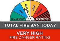 State Wide Total Fire Ban as Residents Urged to Be Prepared
