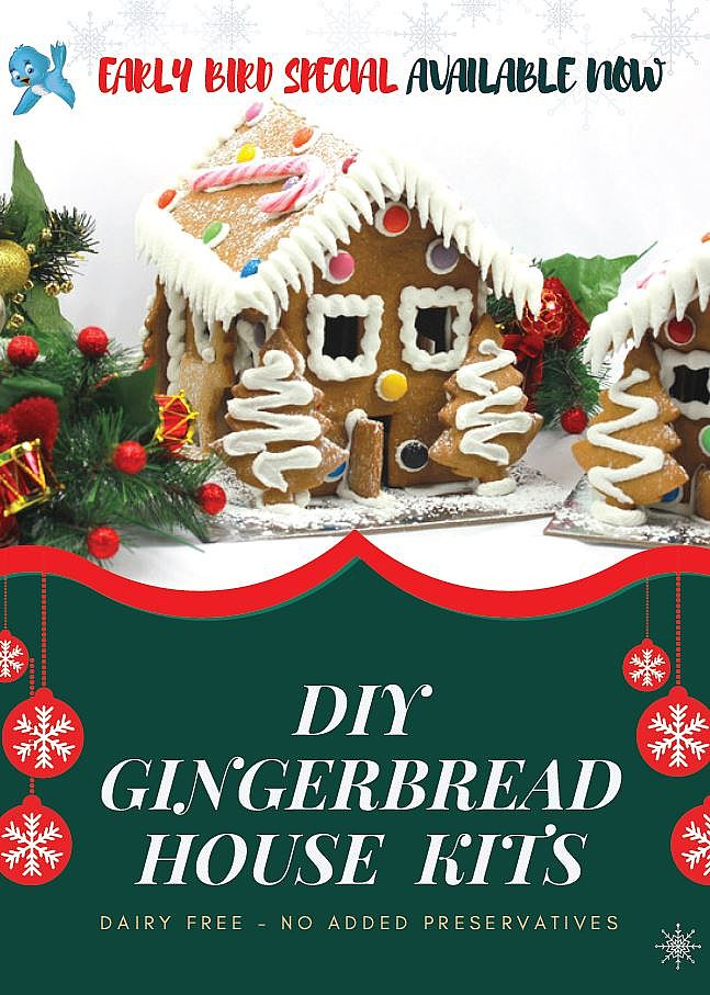 Early Bird Special Available Now On Christmas Gingerbread Kits
